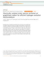 Atomically isolated nickel species anchored on graphitized