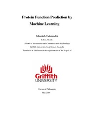 Protein Function Prediction by Machine Learning