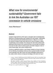 What now for environmental sustainability? Government fails to link